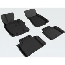 Купить Коврики в салон текстильные Lexus LX470 (3 ряда сид.) LINER 3D Lux с бортиком черные | Автомобильные коврики 3D Sotra в Саратове