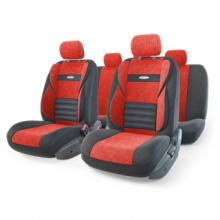 Купить Авто чехлы Формованный велюр Красный Автопрофи CMB-1105 BK/RD для DAEWOO ESPERO в Саратове