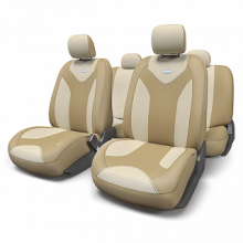 Купить Чехлы сидений Экокожа Бежевый Автопрофи MTX-1105G D.BE/L.BE (M) для HONDA HR-V в Саратове