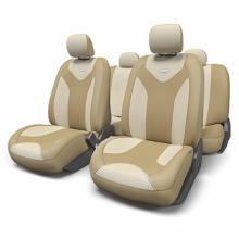 Купить Чехлы сидений Экокожа Бежевый Автопрофи MTX-1105G для DAEWOO ESPERO в Саратове