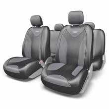 Купить Чехлы сидений Экокожа Черный Автопрофи MTX-1105G BK/D.GY (M) для DAEWOO ESPERO в Саратове