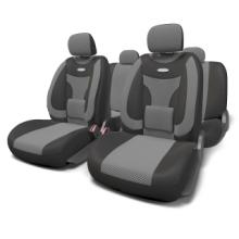 Купить Автомобильные чехлы Формованный велюр Черный Автопрофи ECO-1105 BK/D.GY (M) для HONDA HR-V в Саратове