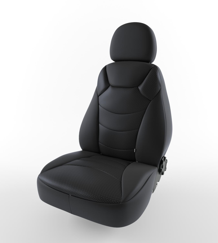Купить Авточехлы «райдер» экокожа черный Ford Focus ll Lord Auto в Саратове в компании Стелла Авто